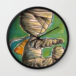 Chico momia va a la escuela(mummy kid going school) Wall Clock
