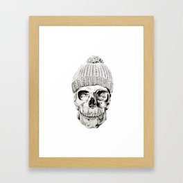 Skull with Hat Framed Art Print