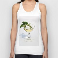 martini Tank Tops featuring  Peppermint Martini by Guna Andersone & Mario Raats - G&M Studi