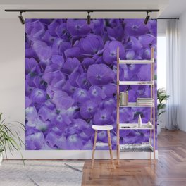 Amethyst  Hydrangea Flowers Garden Art Wall Mural