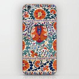 Shakhrisyabz Suzani Uzbekistan Antique Rug iPhone Skin