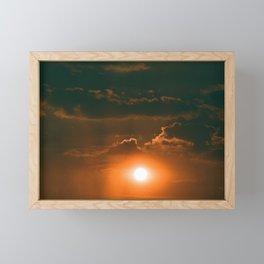 35mm Red Sunset x Framed Mini Art Print