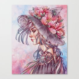 Spring Wind Witch Canvas Print