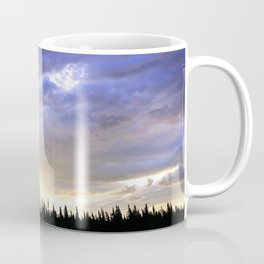 Heart of Light Above the Dark Mountain Coffee Mug