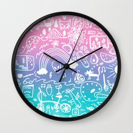all these things that I love Wall Clock