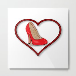 Love Shoes Metal Print
