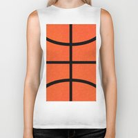 basketball Biker Tanks featuring Basketball by Rorzzer