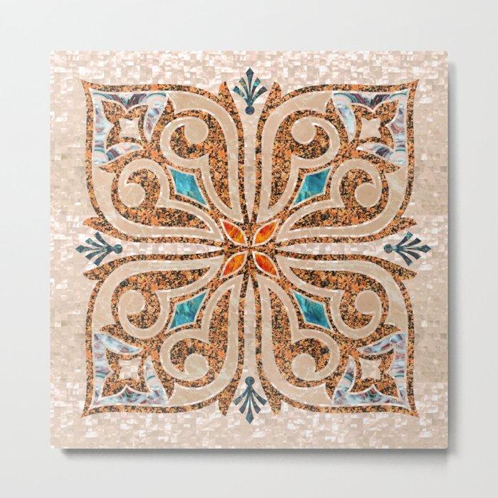 Brown Mandala 03 Metal Print