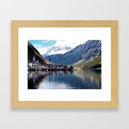 Hallstatt village Framed Art Print