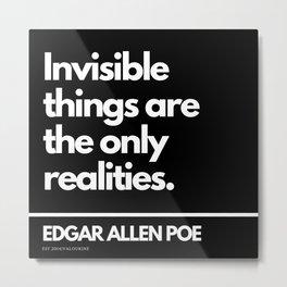 22   Edgar Allen Poe Quotes   201012  Existentialism Nihilism Existentialist Philosophy Writer Raven Metal Print