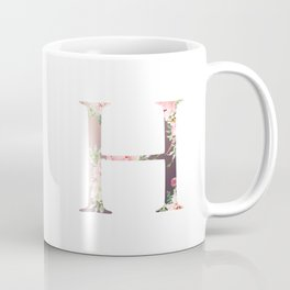 H - Floral Monogram Collection Coffee Mug