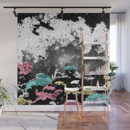 Black Space Coral Wall Mural