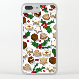 Christmas Treats and Cookies Clear iPhone Case