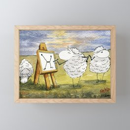 Quantum Sheep Framed Mini Art Print