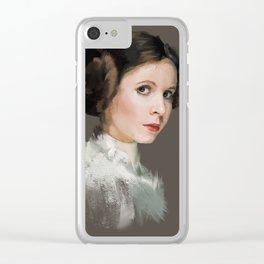 Princess Leia Clear iPhone Case