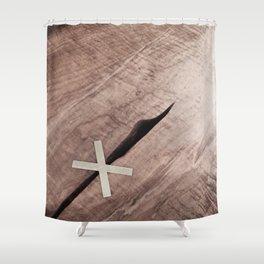 WOOD CROSS Shower Curtain