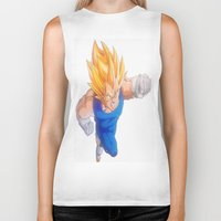 vegeta Biker Tanks featuring Ascended Super Saiyan Vegeta by bmeow