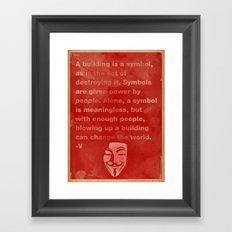 The Power of Symbols, Framed Art Print