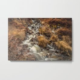 Golden Falls Metal Print