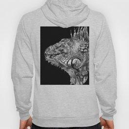 Black And White Iguana Art - One Cool Dude 2 - Sharon Cummings Hoody