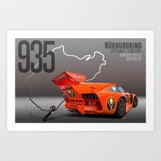 Porsche 935 K3 Jagermeister  Art Print