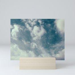 Soft Dreamy Cloudy Sky Mini Art Print