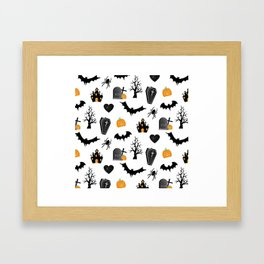 Halloween Pattern Framed Art Print