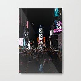 time square rush Metal Print