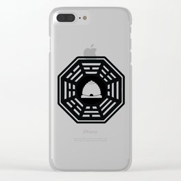 Dharma - Beehive Station (Black) Clear iPhone Case