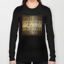 """Abstract golden river pebbles"" Long Sleeve T-shirt"