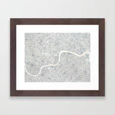 City Map London watercolor map Framed Art Print