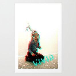 VIVID...bass boosted... Art Print