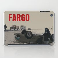movie poster iPad Cases featuring Fargo Movie Poster  by FunnyFaceArt