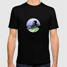 biking Black MEDIUM Mens Fitted Tee