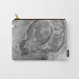 Happy Hen - Black & White Carry-All Pouch