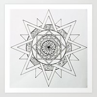 Compass Star Art Print