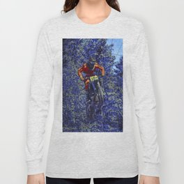 Finish Line Jump - Motocross Racing Champ Long Sleeve T-shirt