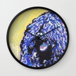 Fun Puli Dog bright colorful Pop Art Dog Portait by Lea Wall Clock