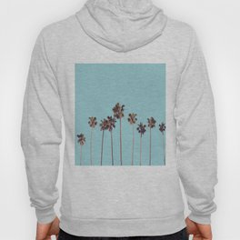palm trees turquoise Hoody