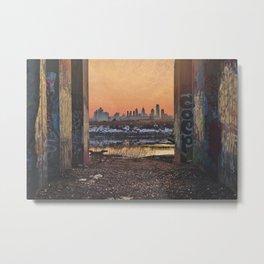 Framed Philly Skyline Metal Print