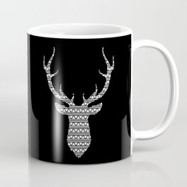 Patterned Stag's Head - Inverted Coffee Mug