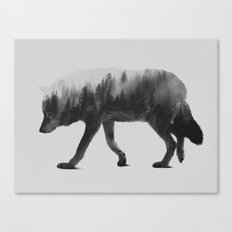 The Wolf (black & white version) Canvas Print