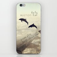 dolphins iPhone & iPod Skins featuring Dolphins by Paula Belle Flores