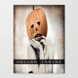 Vintage Halloween: Hollow Inside Canvas Print