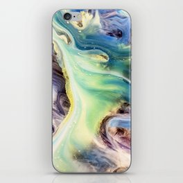 Island Abstract Watercolor Painting iPhone Skin
