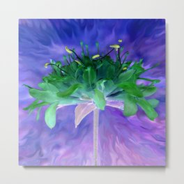 Field flower-blue and violet background Metal Print