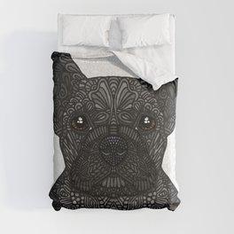 French Bulldog in black Comforters