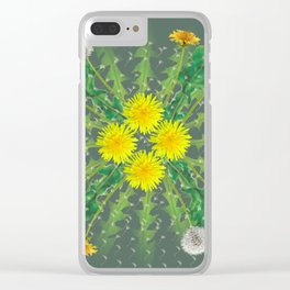 Dandelion Cycle Clear iPhone Case