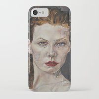 poker iPhone & iPod Cases featuring Poker face by Charles Ellison