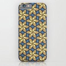 Flower Pattern Yellow/Blue Slim Case iPhone 6s